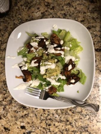 Chicken Carnita Salad with Avocado and Hemp dressing